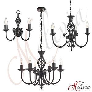 kronleuchter wandlampe schwarz h ngelampe pendelleuchte wandleuchte kerze lampe ebay. Black Bedroom Furniture Sets. Home Design Ideas