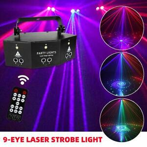 9-EYE RGB LED Laser Bühnenlicht DMX Scan DJ Disco Projektor Bühnenbeleuchtung