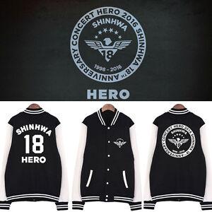 KPOP-Shinhwa-17-Anniversary-We-Baseball-Uniform-Jun-Jin-Coat-Unisex-Jacket