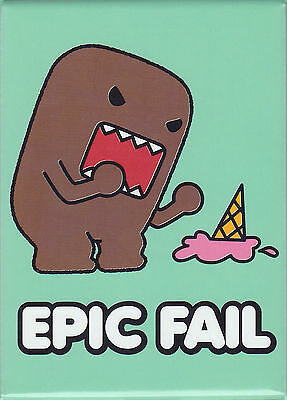 Epic Fail Domo kun Drops Ice Cream Cone Magnet ~ Officially Licensed