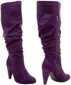 Torrid SEXY Indie Rock Cowgirl Boho Purple High Heel Boots PLUS