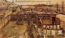 """Carpenter's Workshop"", Vincent van Gogh Reproduction in Oil, 36""x21"""