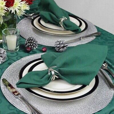 NEW Jacquard Weaved Non Slip Placemats Kit Dining Dinner Table Mats Set of 4 6 8