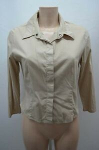 IKKS-CHEMISIER-BEIGE-TAILLE-40-T40-L-SHIRT-CAMISA-BLUSE-BLOUSE
