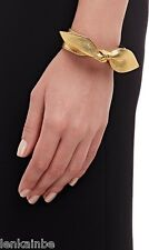 YSL Yves Saint Laurent Tresor Gold Leather Bow Bracelet Large