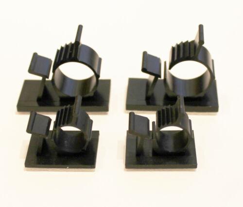 Socket ADESIVA 19x19mm con fascette per cavi nero resistente ai raggi UV