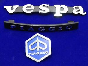 NEW-BRAND-VESPA-PIAGGIO-HORN-CAST-LEGSHIELD-BADGE-EMBLEM-KIT