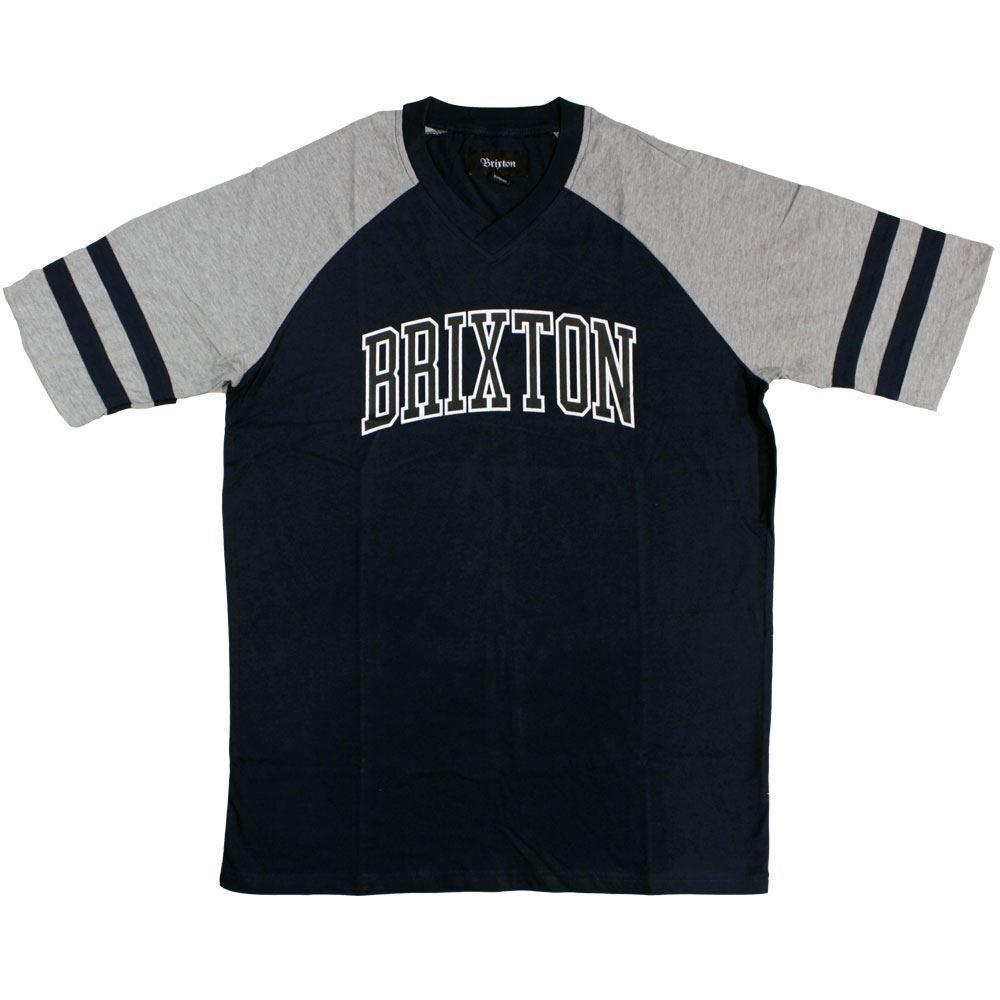 Brixton Victor T-Shirt Grau Blau
