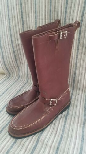 Russell Moccasin Brown Leather Boots Size 14.5 Gre