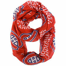 NEW MONTREAL CANADIENS SOFT SHEER INFINITY FASHION SCARF LICENSED