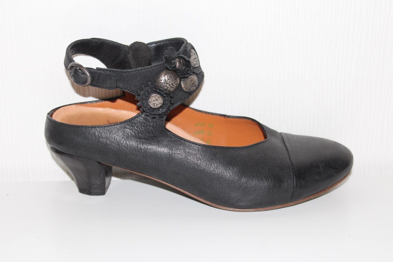 Think  señora zapatos de piel de salón cuero cuero cuero genuino talla 38 negro Mary Janes Lagenlook  tienda en linea