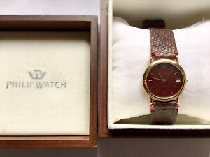 Philip-Watch-automatico-Laminato-In-Oro-Con-Datario-Sistema-Eta2892-2