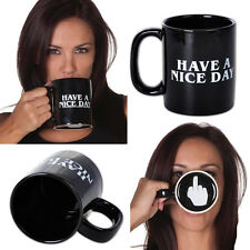 NEW Ceramic Cup Mug Middle Finger Have A Nice Day Coffee Milk Tea Drink Office