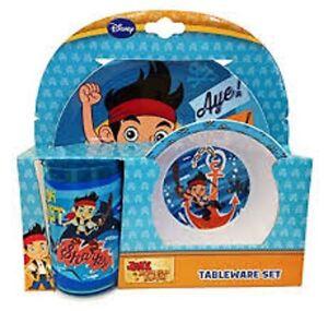 Spearmark-Disney-Jake-et-le-Pays-Imaginaire-Pirate-3-Piece-Diner-Vaisselle-Set