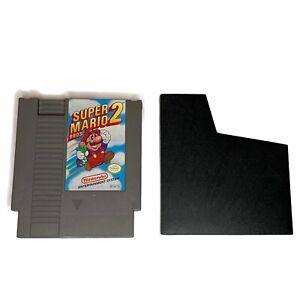Super Mario Bros 2 NES Nintendo 1988 Game Authentic With Dust Sleeve