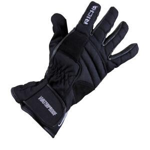 Richa-Venture-Motorcycle-Waterproof-Leather-Textile-Glove-Black-Clearance