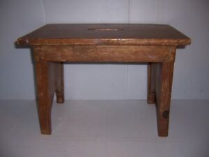 Antique-Wooden-Stool-Bench-Step-Stool-with-Provenance-Farm-Country-Kitchen