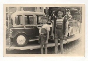 photo ancienne man ge voiture enfants f te foraine vers 1950 vintage ebay. Black Bedroom Furniture Sets. Home Design Ideas