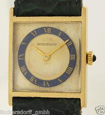 JAEGER LECOULTRE DESIGN ARMBANDUHR IN 18ct GOLD - 1960er JAHRE -LAPISLAZULIKRANZ