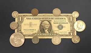 1957-Great-Coin-and-Currency-Collection-of-Old-Money-034-Silver-Coins-in-Every-Lot-034
