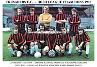 CRUSADERS F.C.TEAM PRINT 1976 (IRISH LEAGUE CHAMPIONS)