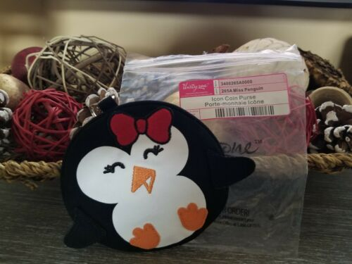THIRTY ONE 31 Icon Zipper Coin Purse MISS PENGUIN Retired BLACK Retired NEW