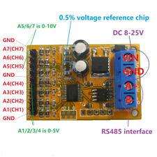 1x 5v 10v 7ch Analog Voltage Acquisition Sampler Rs485 Modbus Rtu Module For Plc