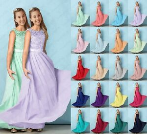 New-Junior-Flower-Girl-Dresses-Princess-Prom-Party-Bridesmaid-Dresses-2-16-Years