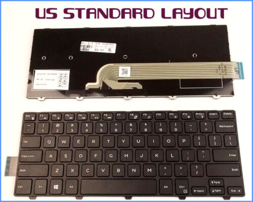 New Laptop US Keyboard for Dell Latitude 3450 SN8233 050X15 W//No-Backlight Frame