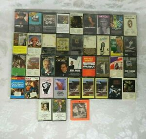 Lot of 38 Classic County Cassette Tapes Dolly Parton Ronnie Milsap Kenny Rogers