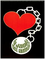 8664.la Jaula Del Amor.french Film.heart & Chain.poster.movie Decor Graphic Art