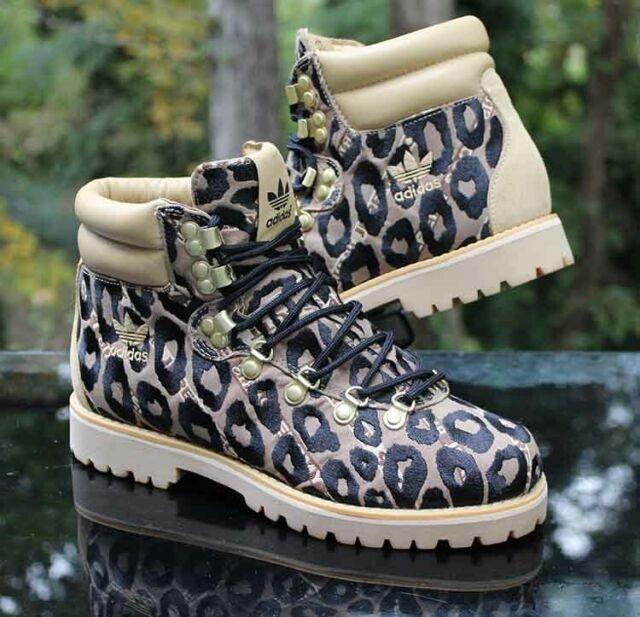 adidas X Jeremy Scott ObyO Leopard Hiking Boot Men's Size 12 Tan Black G96748
