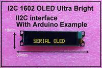 IIC / I2C 1602 16x2 Yellow OLED Module Display - For Arduino / PIC / AVR / ARM