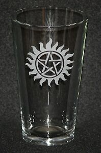 Details about Supernatural Tattoo Symbol Custom Etched Pint Glass