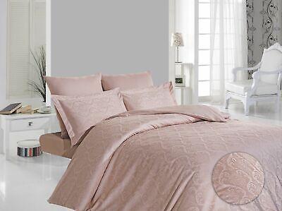 Bettwaren, -wäsche & Matratzen Hell Bettwäsche Bettgarnitur Mako-satin Baumwolle Damask Puder 5tlg.200x200 200x220 Farben Sind AuffäLlig