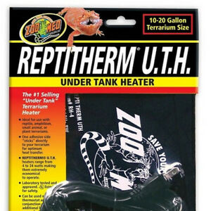 Zoo Med Reptitherm Under Tank Heater Rh 4 Small 10 20 Gal