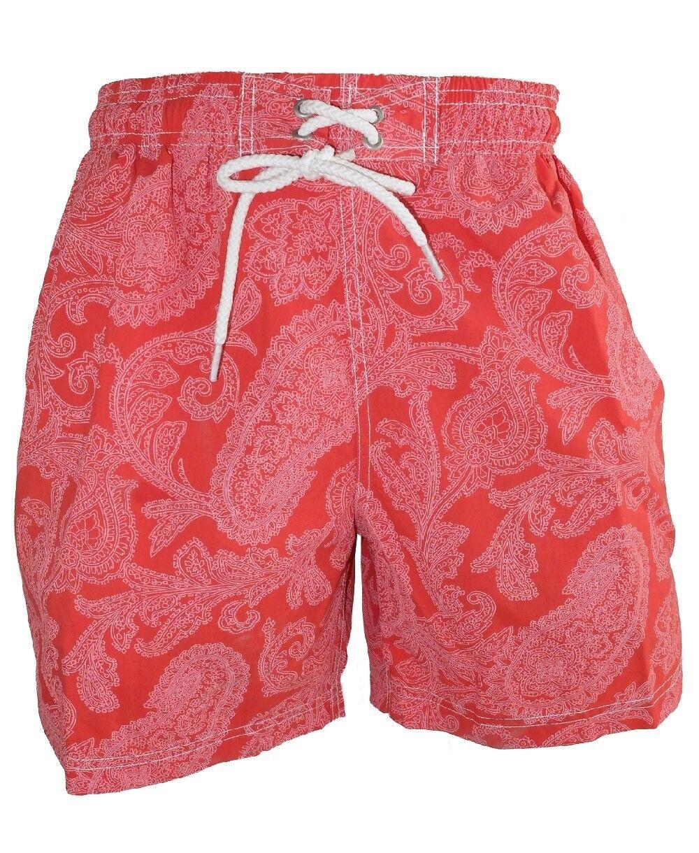 BAILEYS SWIM SHORT BEACHSHORT MODERN PAISLEYS Gr. M L XL red WEISS