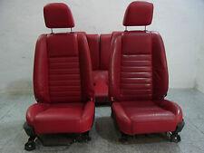 ORIGINALE Ford Mustang GT Coupe anno 2005 sedili in pelle in pelle rosso/SEDILI