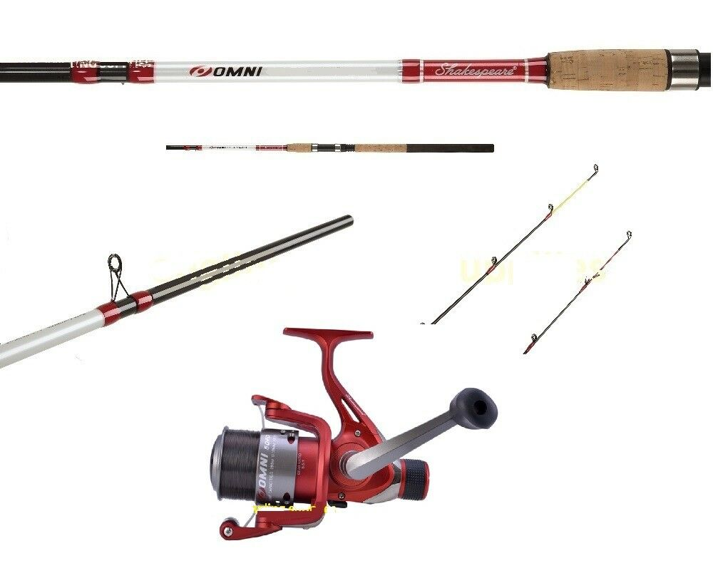Shakespeare Omni 10 ft Feeder   Quiver Tip Rod 3pc & Reel with Line  1423580