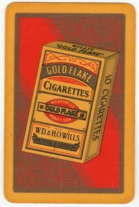 Playing Cards 1 Swap Card  Old Vintage Wills GOLD FLAKE Packet 10 Cigarettes 2 - Bristol, United Kingdom - Playing Cards 1 Swap Card  Old Vintage Wills GOLD FLAKE Packet 10 Cigarettes 2 - Bristol, United Kingdom