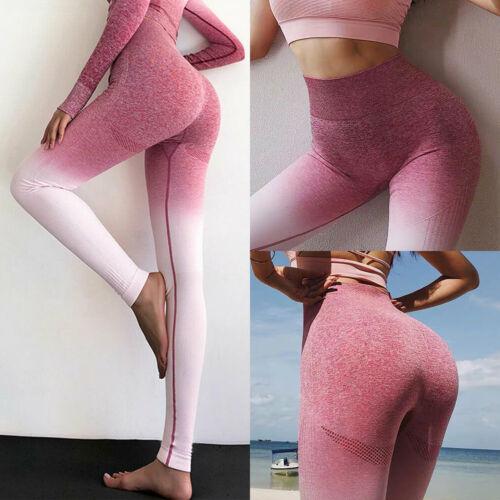 Womens Ruched Leggings Print Yoga Pants Fitness Gym Sports Leggings Trousers UK