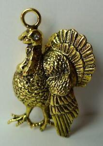 Turkey-pendant-wild-bird-metal-alloy