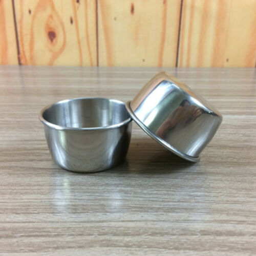 12pcs Stainless Steel Chutney Cups Sauce Pots Party Dessert Condiment Reusable
