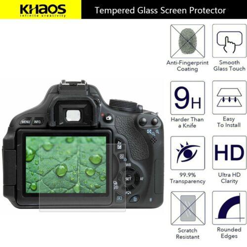 4x Khaos Tempered Glass Screen Protector For Canon 650D 70D 700D 750D 760D 80D
