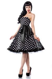Kleid schwarz weiss gepunktet