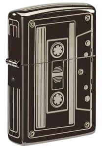 Zippo-Cassette-Design-Black-Ice-Windproof-Pocket-Lighter-150-081166