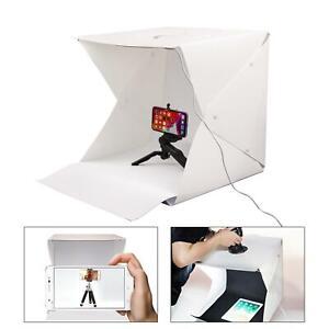 LED Lumière Boîte 40cm Photographie Photo Studio Portable Tent Fond Lumière Cube