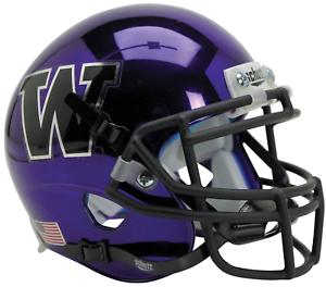 WASHINGTON-HUSKIES-NCAA-Schutt-Authentic-MINI-Football-Helmet-PURPLE-CHROME