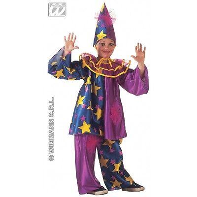 Carnevale Costume Vestito Star Clown Pagliaccio 5/7 Anni