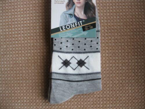 Geometric Ladies//Girls cotton socks by Leonfit,Sizes 3-5 5-7 Various colours